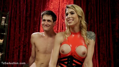 Photo number 17 from Hot Blonde Casey Kisses Teaches Prick Lesson in Humility with Her Cock shot for TS Seduction on Kink.com. Featuring Casey Kisses and Tony Orlando in hardcore BDSM & Fetish porn.