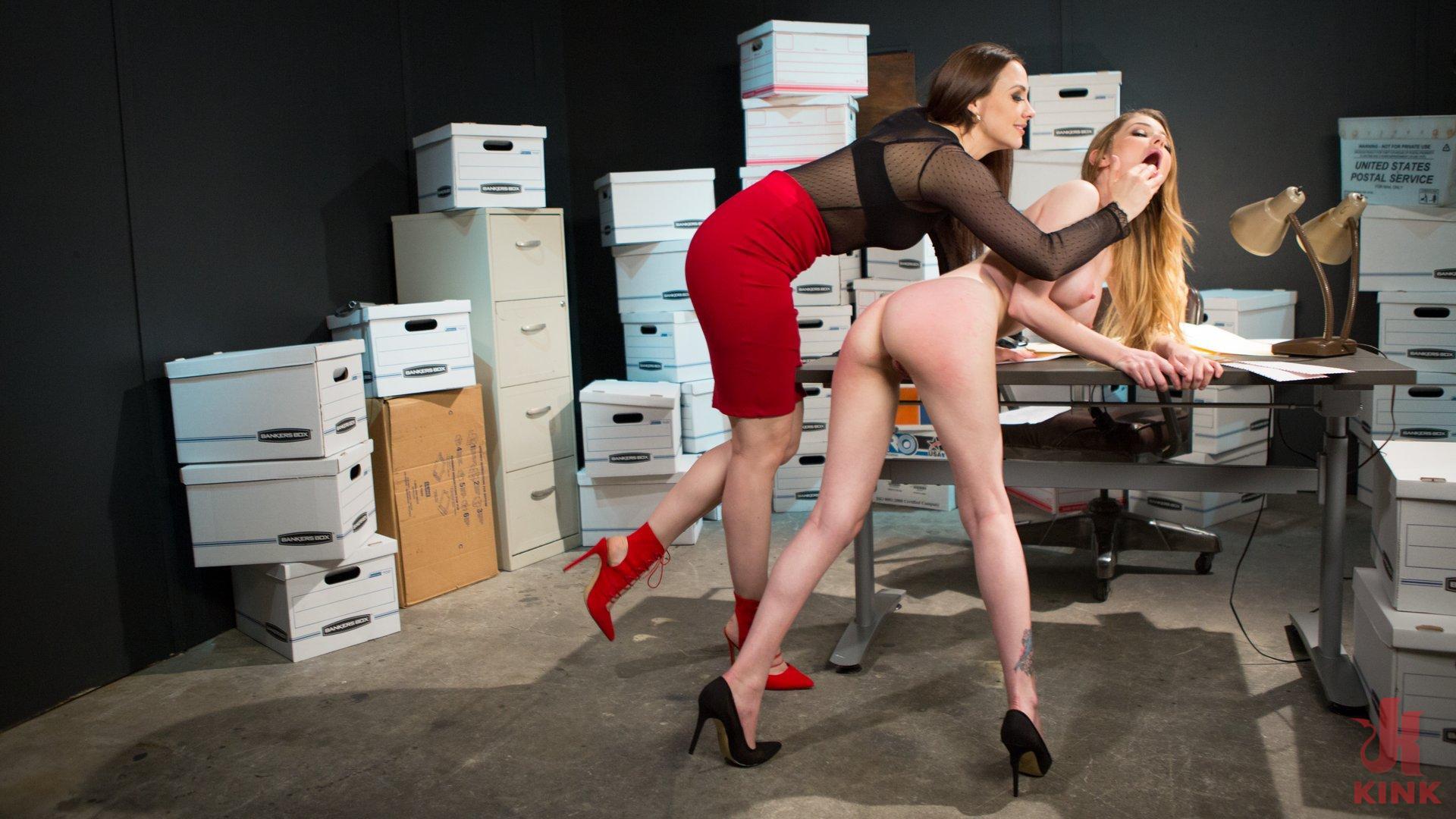 Photo number 4 from Chanel Preston Punishes Sleeping Employee, Nadya Nabakova  shot for Whipped Ass on Kink.com. Featuring Chanel Preston and Nadya Nabakova in hardcore BDSM & Fetish porn.