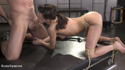 Photo number 9 from Skinny Newbie Lexi Foxy gets her Tiny Pussy Pounded in Brutal Bondage shot for Brutal Sessions on Kink.com. Featuring Charles Dera and Lexi Foxy in hardcore BDSM & Fetish porn.