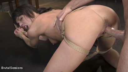 Photo number 10 from Skinny Newbie Lexi Foxy gets her Tiny Pussy Pounded in Brutal Bondage shot for Brutal Sessions on Kink.com. Featuring Charles Dera and Lexi Foxy in hardcore BDSM & Fetish porn.