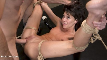 Photo number 19 from Skinny Newbie Lexi Foxy gets her Tiny Pussy Pounded in Brutal Bondage shot for Brutal Sessions on Kink.com. Featuring Charles Dera and Lexi Foxy in hardcore BDSM & Fetish porn.