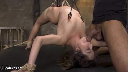 Photo number 2 from Petite Sex Slave Isabella Nice Gagged and Fucked in Tight Rope Bondage shot for Brutal Sessions on Kink.com. Featuring Eddie Jaye and Isabella Nice in hardcore BDSM & Fetish porn.