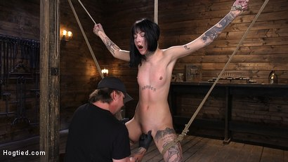 Photo number 3 from Submissive Goth Girl is Bound, Tormented, and Made to Cum shot for Hogtied on Kink.com. Featuring Charlotte Sartre in hardcore BDSM & Fetish porn.