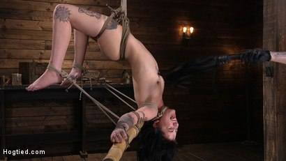 Photo number 5 from Submissive Goth Girl is Bound, Tormented, and Made to Cum shot for Hogtied on Kink.com. Featuring Charlotte Sartre in hardcore BDSM & Fetish porn.