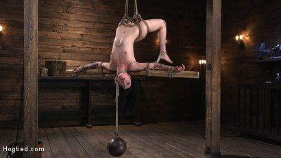Photo number 8 from Submissive Goth Girl is Bound, Tormented, and Made to Cum shot for Hogtied on Kink.com. Featuring Charlotte Sartre in hardcore BDSM & Fetish porn.