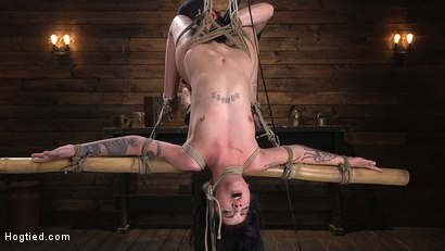 Submissive Goth Girl is Bound, Tormented, and Made to Cum