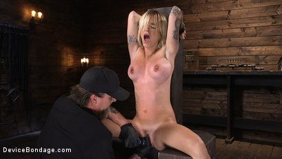 Photo number 5 from Fresh Meat: Sammie Six Shackled in Grueling Bondage shot for Device Bondage on Kink.com. Featuring Sammie Six in hardcore BDSM & Fetish porn.