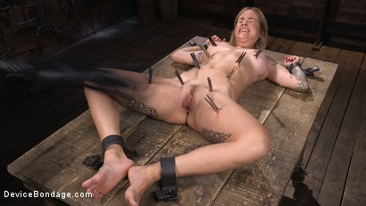 Photo number 6 from Fresh Meat: Sammie Six Shackled in Grueling Bondage shot for Device Bondage on Kink.com. Featuring Sammie Six in hardcore BDSM & Fetish porn.