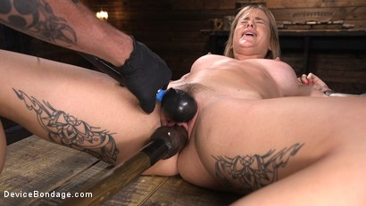 Photo number 9 from Fresh Meat: Sammie Six Shackled in Grueling Bondage shot for Device Bondage on Kink.com. Featuring Sammie Six in hardcore BDSM & Fetish porn.