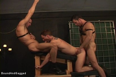 Photo number 14 from Masters & Slaves 1: The Slave Performs shot for Bound And Gagged on Kink.com. Featuring Aaron Tanner, Steve Ross and Jason Branch in hardcore BDSM & Fetish porn.