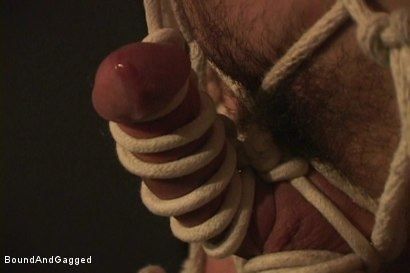 Photo number 4 from Masters & Slaves 1: The Slave Performs shot for Bound And Gagged on Kink.com. Featuring Aaron Tanner, Steve Ross and Jason Branch in hardcore BDSM & Fetish porn.