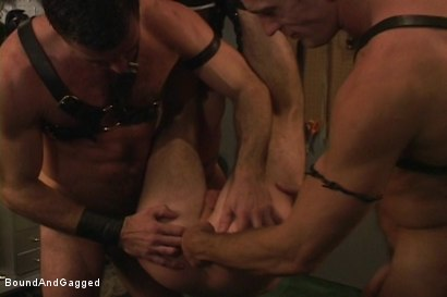 Photo number 9 from Masters & Slaves 1: The Slave Performs shot for Bound And Gagged on Kink.com. Featuring Aaron Tanner, Steve Ross and Jason Branch in hardcore BDSM & Fetish porn.