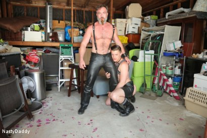 Photo number 2 from Lick it Boy shot for Nasty Daddy on Kink.com. Featuring Kristofer Weston and Tyler Rush in hardcore BDSM & Fetish porn.