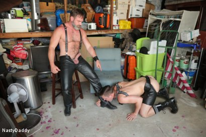 Photo number 14 from Lick it Boy shot for Nasty Daddy on Kink.com. Featuring Kristofer Weston and Tyler Rush in hardcore BDSM & Fetish porn.
