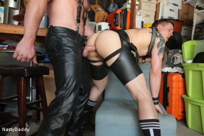 Photo number 16 from Lick it Boy shot for Nasty Daddy on Kink.com. Featuring Kristofer Weston and Tyler Rush in hardcore BDSM & Fetish porn.