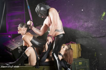 Leather-Clad Whores Abuse and Fuck Their Gimp