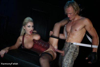 Photo number 11 from Bitch Boudoir - Blonde MILF Fucks her Gimp	 shot for Harmony Fetish on Kink.com. Featuring Georgie Lyall and Clark Kent in hardcore BDSM & Fetish porn.
