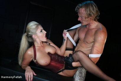 Photo number 17 from Bitch Boudoir - Blonde MILF Fucks her Gimp	 shot for Harmony Fetish on Kink.com. Featuring Georgie Lyall and Clark Kent in hardcore BDSM & Fetish porn.
