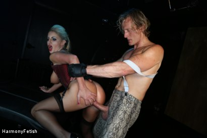 Photo number 20 from Bitch Boudoir - Blonde MILF Fucks her Gimp	 shot for Harmony Fetish on Kink.com. Featuring Georgie Lyall and Clark Kent in hardcore BDSM & Fetish porn.