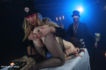 Photo number 2 from Interracial Voodoo Threesome shot for Harmony Fetish on Kink.com. Featuring Lexi Lowe, Samantha Bentley and Omar in hardcore BDSM & Fetish porn.