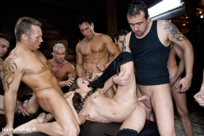 Photo number 18 from Extreme Schoolgirl Gangbang shot for Harmony Fetish on Kink.com. Featuring Amber Rayne, Jack Logan, Deke, Ethan Cage, Marco Banderas, Jazz Duro, Jordan Lane, Jack Lawrence, Marcus London, Oliver, Mark Davis and Trent in hardcore BDSM & Fetish porn.
