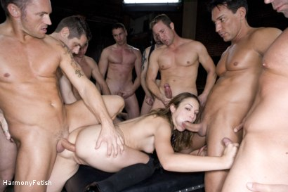 Photo number 10 from Extreme Schoolgirl Gangbang shot for Harmony Fetish on Kink.com. Featuring Amber Rayne, Jack Logan, Deke, Ethan Cage, Marco Banderas, Jazz Duro, Jordan Lane, Jack Lawrence, Marcus London, Oliver, Mark Davis and Trent in hardcore BDSM & Fetish porn.
