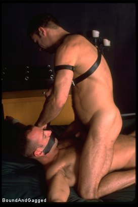 Photo number 1 from Masters & Slaves 1: Slave Put Away, Masters at Play shot for Bound And Gagged on Kink.com. Featuring Aaron Tanner, Steve Ross and Jason Branch in hardcore BDSM & Fetish porn.