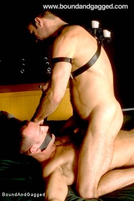 Photo number 15 from Masters & Slaves 1: Slave Put Away, Masters at Play shot for Bound And Gagged on Kink.com. Featuring Aaron Tanner, Steve Ross and Jason Branch in hardcore BDSM & Fetish porn.