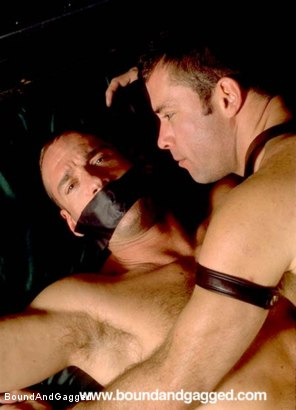 Photo number 18 from Masters & Slaves 1: Slave Put Away, Masters at Play shot for Bound And Gagged on Kink.com. Featuring Aaron Tanner, Steve Ross and Jason Branch in hardcore BDSM & Fetish porn.