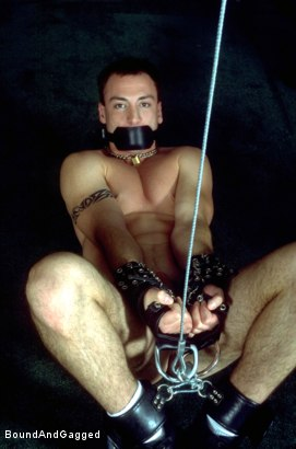 Photo number 20 from Masters & Slaves 1: Slave Put Away, Masters at Play shot for Bound And Gagged on Kink.com. Featuring Aaron Tanner, Steve Ross and Jason Branch in hardcore BDSM & Fetish porn.