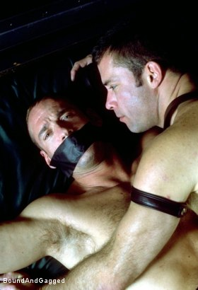 Photo number 4 from Masters & Slaves 1: Slave Put Away, Masters at Play shot for Bound And Gagged on Kink.com. Featuring Aaron Tanner, Steve Ross and Jason Branch in hardcore BDSM & Fetish porn.