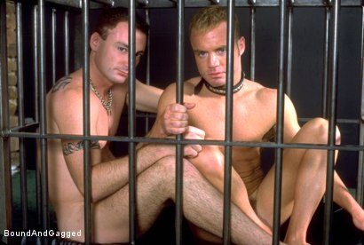 Photo number 2 from Masters & Slaves 1: What's Mine is Yours shot for Bound And Gagged on Kink.com. Featuring Jay Ross, Jason Branch, Steve Ross and Aaron Tanner in hardcore BDSM & Fetish porn.