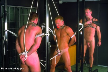Photo number 11 from Masters & Slaves 1: What's Mine is Yours shot for Bound And Gagged on Kink.com. Featuring Jay Ross, Jason Branch, Steve Ross and Aaron Tanner in hardcore BDSM & Fetish porn.