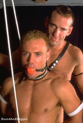 Photo number 4 from Masters & Slaves 1: What's Mine is Yours shot for Bound And Gagged on Kink.com. Featuring Jay Ross, Jason Branch, Steve Ross and Aaron Tanner in hardcore BDSM & Fetish porn.