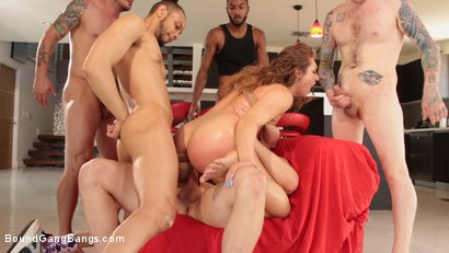 Photo number 11 from Skylar Snow Takes 5 Hard Cocks In Every Hungry Hole shot for Bound Gang Bangs on Kink.com. Featuring Skylar Snow , Donny Sins, Mr. Pete, Zac Wild, Johnny Goodluck  and John Long in hardcore BDSM & Fetish porn.