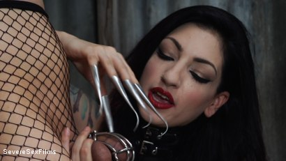 Photo number 5 from Mistress Cybill Troy is a Metallic Torment Queen shot for Severe Sex Films on Kink.com. Featuring Cybill Troy and Tener Duende in hardcore BDSM & Fetish porn.