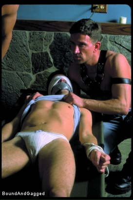 Photo number 21 from Boynapped!: The Kidnapping shot for Bound And Gagged on Kink.com. Featuring Bryan Manfield, Sam Dixon, Matt Sizemore and Tony Santis in hardcore BDSM & Fetish porn.