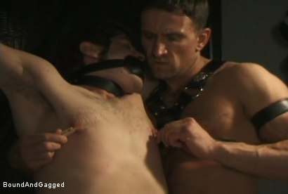 Photo number 13 from Boynapped!: Abusing the House Slave  shot for Bound And Gagged on Kink.com. Featuring Sam Dixon, Matt Sizemore and Tony Santis in hardcore BDSM & Fetish porn.