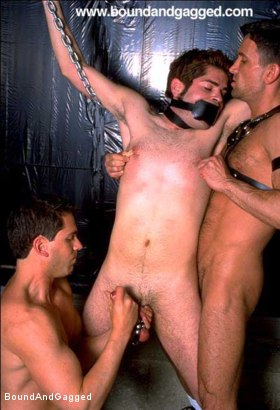 Photo number 16 from Boynapped!: Abusing the House Slave  shot for Bound And Gagged on Kink.com. Featuring Sam Dixon, Matt Sizemore and Tony Santis in hardcore BDSM & Fetish porn.