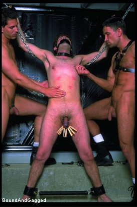 Photo number 17 from Boynapped!: Abusing the House Slave  shot for Bound And Gagged on Kink.com. Featuring Sam Dixon, Matt Sizemore and Tony Santis in hardcore BDSM & Fetish porn.