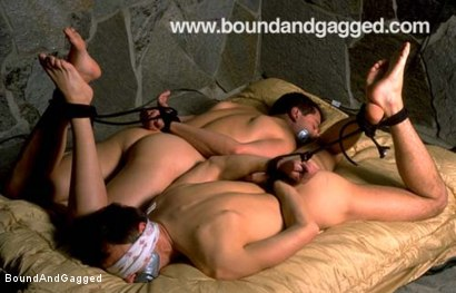 Photo number 4 from Boynapped!: Punished and Redeemed shot for Bound And Gagged on Kink.com. Featuring Bryan Manfield, Sam Dixon, Matt Sizemore and Tony Santis in hardcore BDSM & Fetish porn.