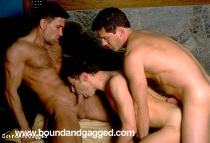Photo number 7 from Boynapped!: Punished and Redeemed shot for Bound And Gagged on Kink.com. Featuring Bryan Manfield, Sam Dixon, Matt Sizemore and Tony Santis in hardcore BDSM & Fetish porn.
