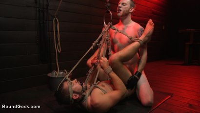 Photo number 16 from New slave Dante Colle flogged, fucked, and eager shot for Bound Gods on Kink.com. Featuring Sebastian Keys and Dante Colle in hardcore BDSM & Fetish porn.