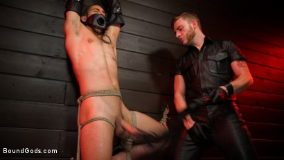 Photo number 3 from New slave Dante Colle flogged, fucked, and eager shot for Bound Gods on Kink.com. Featuring Sebastian Keys and Dante Colle in hardcore BDSM & Fetish porn.