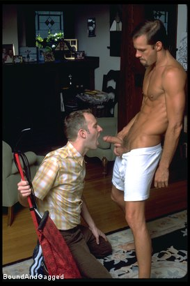 Photo number 7 from The Salesman: Obedient Boys Make Sales shot for Bound And Gagged on Kink.com. Featuring Michael Brandon and Luke Sabre in hardcore BDSM & Fetish porn.