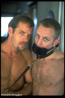 Photo number 1 from The Salesman: Bound and Paddled shot for Bound And Gagged on Kink.com. Featuring Michael Brandon and Luke Sabre in hardcore BDSM & Fetish porn.