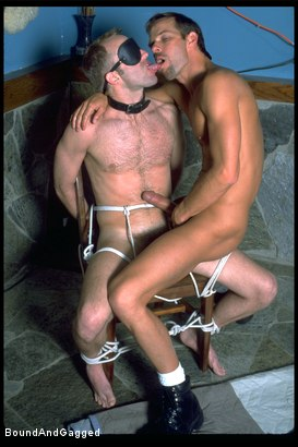 Photo number 11 from The Salesman: Bound and Paddled shot for Bound And Gagged on Kink.com. Featuring Michael Brandon and Luke Sabre in hardcore BDSM & Fetish porn.