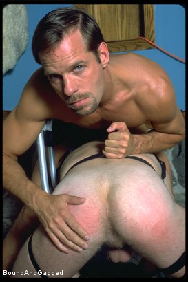 Photo number 13 from The Salesman: Bound and Paddled shot for Bound And Gagged on Kink.com. Featuring Michael Brandon and Luke Sabre in hardcore BDSM & Fetish porn.