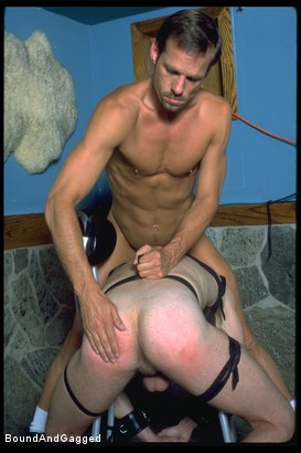 Photo number 16 from The Salesman: Bound and Paddled shot for Bound And Gagged on Kink.com. Featuring Michael Brandon and Luke Sabre in hardcore BDSM & Fetish porn.