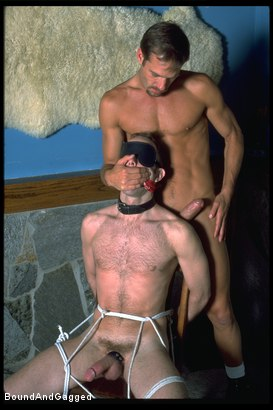 Photo number 5 from The Salesman: Bound and Paddled shot for Bound And Gagged on Kink.com. Featuring Michael Brandon and Luke Sabre in hardcore BDSM & Fetish porn.